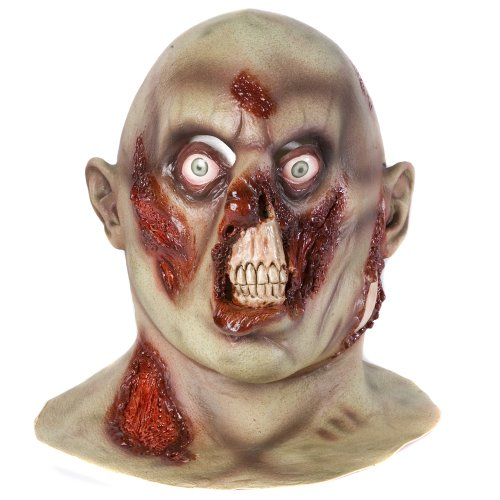 Accessoryo - Latex Halloween Luxe Pourriture Tête De Zombie Et Le Masque De Cou