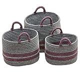 Scott Living Basket, Polypropylen Wolle, Pflaume, 16
