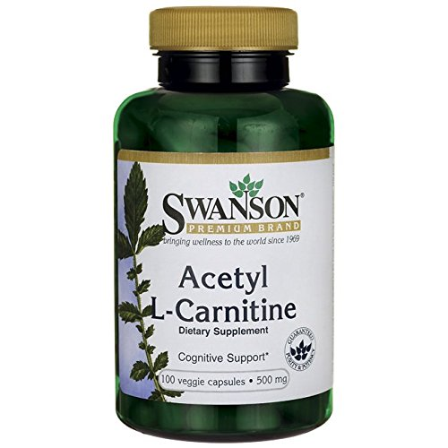Swanson – Acetyl L-Carnitin (ALCAR) 500mg, 100 Kapseln – Konzentration, Gedächtnis, Performance Physik, Energie, Vitalität & Anti-Aging – Acetylcarnitin, Essigsäure (Acetyl L Carnitine capsules)