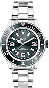 ICE-Watch - Montre Mixte - Quartz Analogique - Ice-Pure - Anthracite - Unisex - Cadran Gris - Bracelet Plastique Transparent - PU.AT.U.P.12