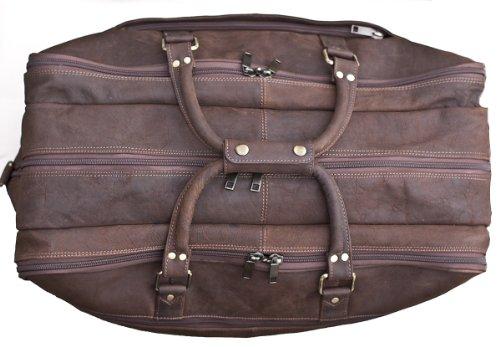 Prime Hide Weiche Reisetasche aus Leder Weekend Bag # 827 braun