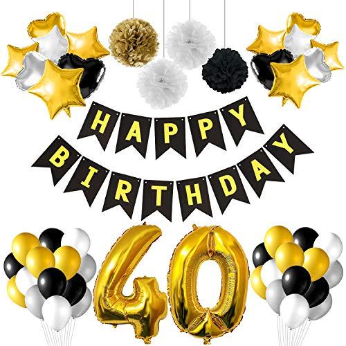 TUPARKA Globos 40 cumpleaños Decoraciones Fiesta