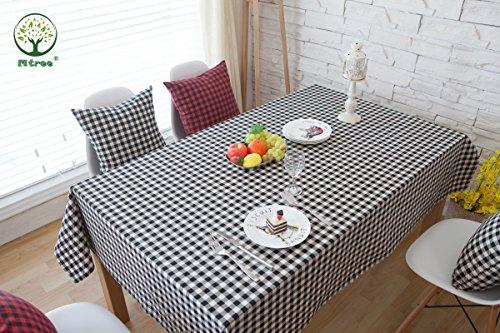 uelle Tischdecke wasserdicht schwarz und weiß Tisch (Life is Simple Serie), Leinen, schwarz / weiß, 55x71 Inch(140x180cm) (Personalisierte Tischdecken)