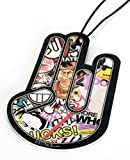 The Shocker Hand - Sticker Bomb Duftbaum Air Freshener - Fuzzy Dice DUB OEM JDM - DUBWAY (Duft: Rose)