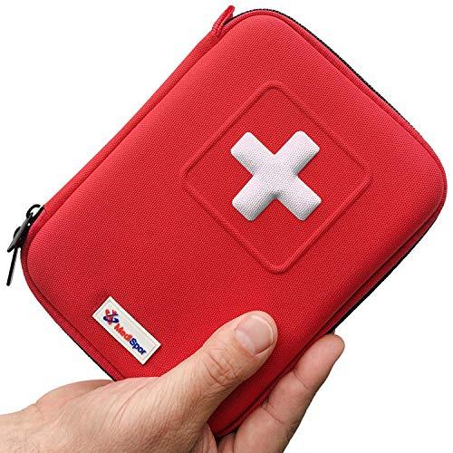 Con il mini kit di primo soccorso Medispor da 100 non sarai mai più impreparato. Un kit di pronto soccorso deve contenere più di un semplice mazzo di cerotti, per questo il nostro contiene quasi 100articoli ed è composto da oltre 30diversi pro...