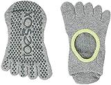 Toe Sox Full Toesox BELLARINA Yoga-Socken, Unisex Erwachsene S Schwarz