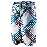 Nike Herren Board Short Julian + Scout Laces Badehose Badeshort Schwimmen bunt, Weite/Länge:31/30;Farbe:451791-100 Weiß/Blau