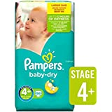 Pampers Baby Dry Couches Taille 4 + Grand Paquet 56 par paquet