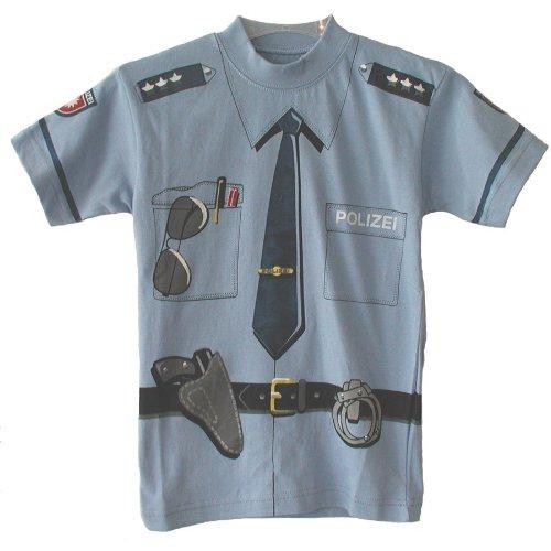 Kid's Shirt Polizei T-Shirt blau, Größe 116