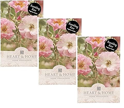 Pack of 3 Heart and Home Rambling Rose Large Scented