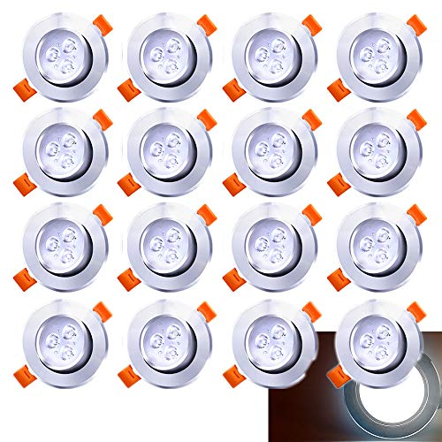 er Einbau-Spots Schwenkbar 5W Leuchtmittel Decken-Leuchte Einbaulampe Kaltweiß Deckeneinbauleuchte Spots 230V ()