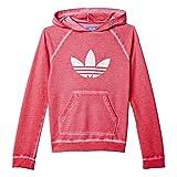 adidas Mädchen Sweatshirt J TERY HOOD G, Rosa/Weiß, 158, 4056559560843