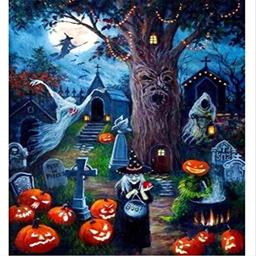 5D DIY Halloween Diamant Gemälde Volle Runde Strass Malerei Diamant Stickerei Tiere Wohnkultur 50x65cm ()