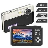 Appareil Photo Numérique Appareil Photo 24MP 2,4 Pouces TFT LCD avec Caméra Vidéo Zoom Numérique 3X Caméra de Vlogging Appareil Photo Compact et Portable Selfie
