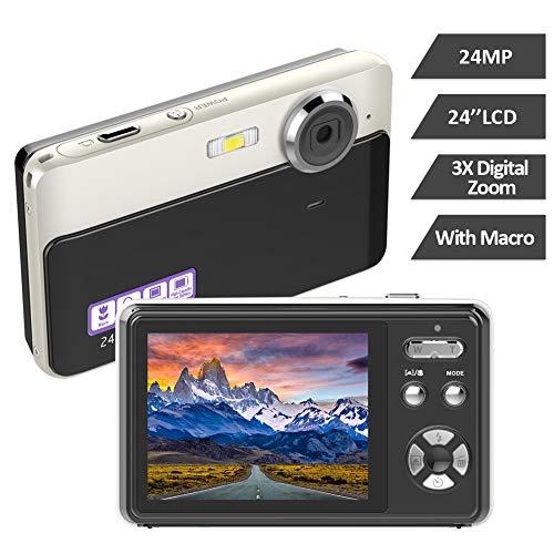 Appareil Photo Numérique Appareil Photo 24MP 2,4 Pouces TFT LCD avec Caméra Vidéo Zoom Numérique...
