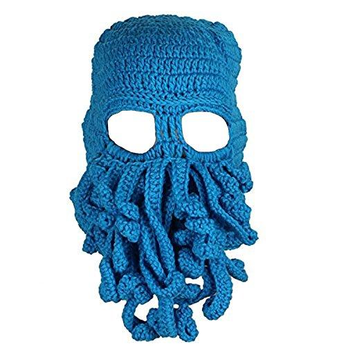 Queenshiny® Kopf Barbar Vagabond Beanie Original Foldaway Bart Hüte Halloween Viking Horns Bärtige Caps (Octopus (Halloween Barbarische Kostüme)
