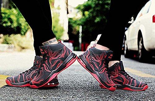 Unisex Coppia Casual Scarpe sportive Florescent Light Basktball Scarpe Comforty Punta tonda Laccio da scarpe Color Match Snekers Scarpe da trekking Scarpe da corsa Eu Taglia 35-44 Rosso