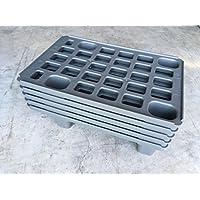 5x Fácil palé 60x 40Plástico palé en 1/4de Palets métrica Incluye ZOLLSTOCK* Cuartos palé, Juego de 5