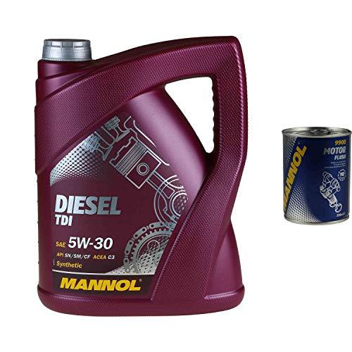 5L Motoröl MANNOL Diesel TDI 5W-30 1x MANNOL Motor Flush ADDITIV