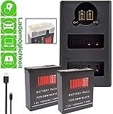 2X LOOKit Premium Batterie BLG10-1025mAh + LCD Double Chargeur pour Panasonic LUMIX...