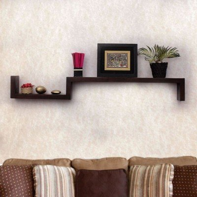 Onlineshoppee Beautiful Wooden Fancy Wall Decor Rack Shelves Size (Lxbxh-25x5x6) Inch Wooden Wall Shelf