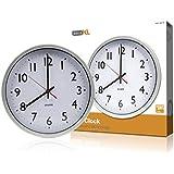 basicXL BXL-WC10 - Reloj de pared (55 x 315 x 315 mm)
