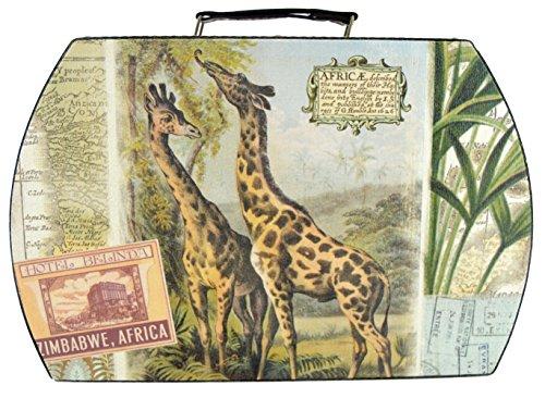 Girafe Design Imprimé Étui de transport/Boîte de rangement/bagages En Cuir Avec Poignée style – 35 cm x 23 cm x 13 cm