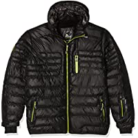 Peak Mountain Capt - Anorak para hombre, Hombre, color negro, tamaño small
