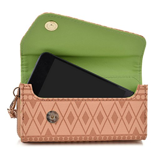 Kroo Pochette/étui style tribal urbain pour Alcatel POP D3 White with Mint Blue Brun