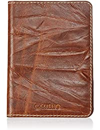 CAMELIO Brown Passport Wallet (CAM-WL-0029)