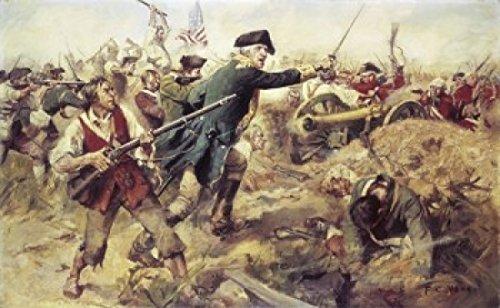 Frederick Coffay Yohn - General John Stark at The Battle of Bennington Vermont 1902 Frederick Coffay Yohn (1875-1933 American) Poster Drucken (60,96 x 91,44 cm) - Bennington, Vermont