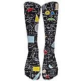 Sweet grape Back To School Algebra Black Knee High Graduated Compression Socks For Women And Men - Best Medical, Nursing, Travel & Flight Socks - Running & Fitness