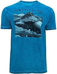Camiseta GORLI, Hombre, Azul, Manga corta (M)
