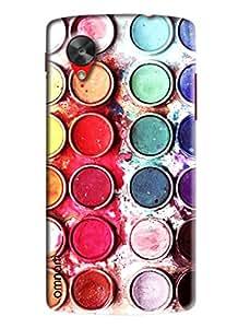 Omnam Paint Bucket Lying Designer Back Cover Case for Goole Nexus 5