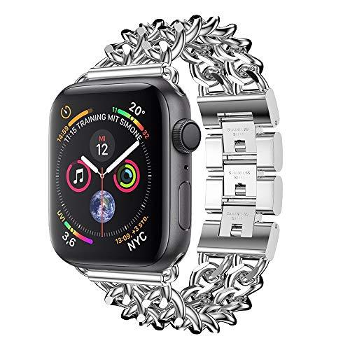 Preisvergleich Produktbild Apple Watch Armband,  12shage Strap 40mm Metal Band Uhrenarmband Schlaufe Watch Armbänder für Iwatch Series 4 (Silber)