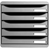 Multiform 309740D Big Box Plus - Cajonera de oficina (5 cajones, 43 mm de altura por cada cajón, tamaño A4 holgado), color gris claro