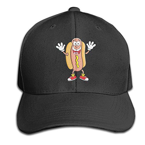Osmykqe Hot Dog Cartoon Unisex Sommer Sonnenhut einstellbar lässig Golf Tennis Caps