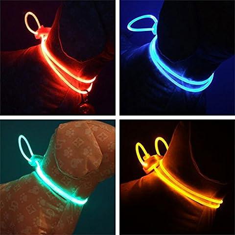 Tutoy Bunte Led Haustier Hundehalsband Kette Leuchtende Licht Led Hund Katze Nacht Licht Kragen -Blau