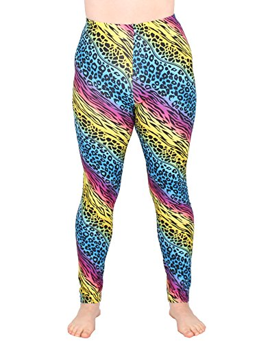 Leggins Damen Leggings leggings mit Muster bunt schwarz weiß elastisch 455 lang ( 1 / S/M ) - 2