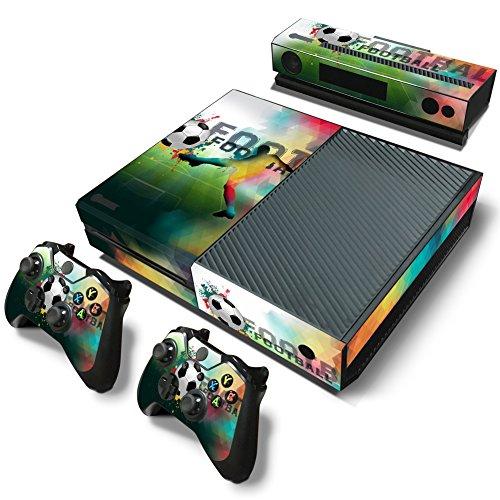 46 North Design Xbox One Pegatinas De La Consola Football + 2 Pegatinas Del Controlador & 1 Kinect Sticker