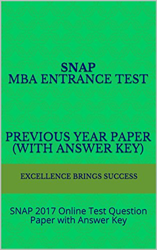 SNAP MBA Entrance Test Previous Year Paper (With Answer Key): SNAP