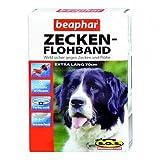 Beaphar - Zecken-Flohband für Hunde mit SOS extra lang -