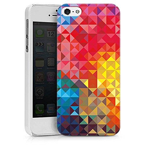 Apple iPhone X Silikon Hülle Case Schutzhülle Bunt Muster struktur Hard Case weiß