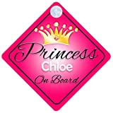Principessa Chloe bordo personalizzabile ragazza auto cartello Baby/bambino regalo 001