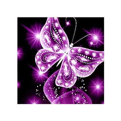 Ruiboury Arte de la Pintura 5D Cruz Rosada de la Mariposa del Rhinestone de la Puntada DIY Crystal Animal del Ministerio del Interior de la Costura del Bordado de Diamante
