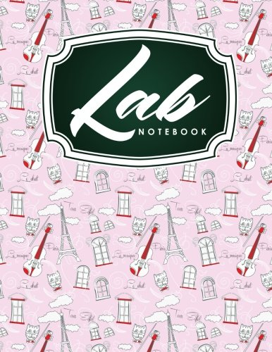Lab Notebook: Chemistry Laboratory Notebook, Lab Notebook Ruled, Lab Notebook Graph, Student Lab Notebook, Cute Paris & Music Cover - Student Lab Notebook