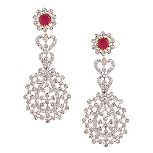 swasti-jewels-bollywood-style-cz-zircon-fashion-jewellery-colourful-long-earrings-for-women-red