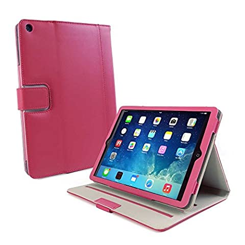 Tuff-Luv Slim-Stand Napa leather case cover for Apple iPad Air 2013 (Sleep Function) - Very Berry