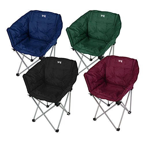 Padded Folding Tub Chair, Heavy Duty Camping / Festival Seat With ...