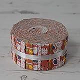 Tessuto arancione Freedom cortile in rotoli 40Strippers strisce 100% cotone cucito patchwork quilting Craft Fabric Bundle ogni striscia 6,3cm larghezza x 106,7cm lunghezza quilting Craft Sewing patchwork Fabric Bundle Made in the UK brand new in presentazione Bundle